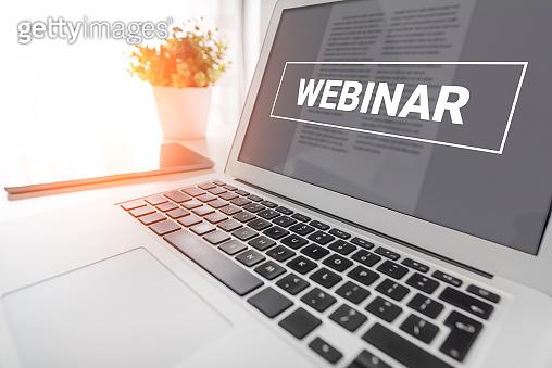 Webinar online, e-learning concept