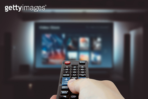 VOD service on television. TV streaming concept