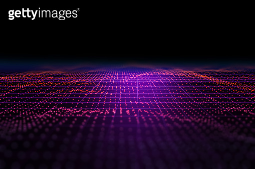 Light speed zoom travel in Deep space  background 3d illustration.
