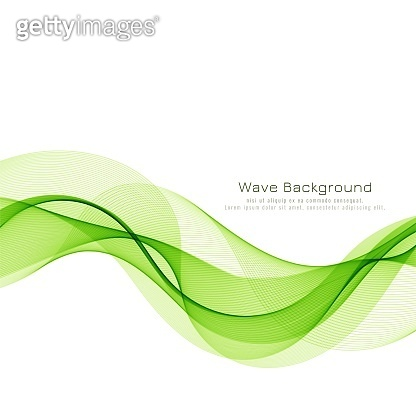 Abstract green wave business background vector design illustration