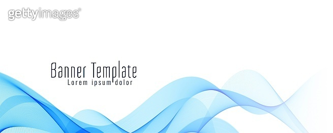Abstract wavy banner stylish design template vector vector design illustration