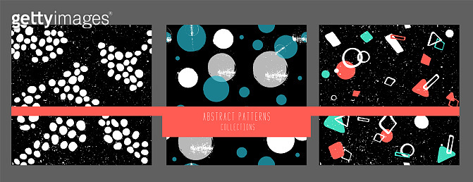 Geometric Vector pattern with black and white form. Form a triangle, a line, a circle. doodle fashion style. Textile Wrapping paper background. repeating image. collection hand drawing.