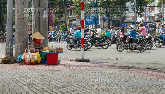 Street vendor Saigon, Ho Chi Min City.