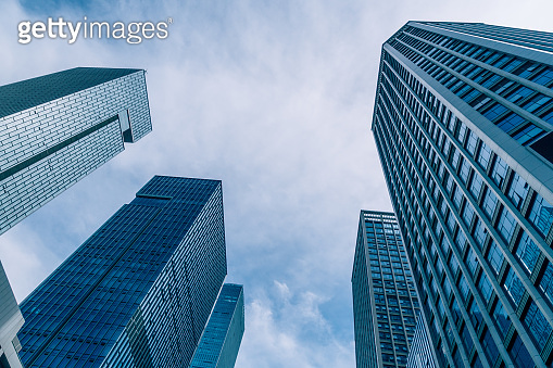Modern office building on a clear sky background