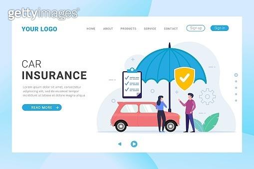 Car Insurance landing page template design web