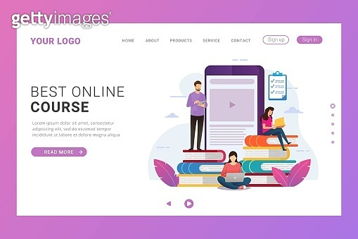 Landing page template for online education training course