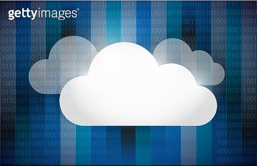 Cloud computing set illustration design