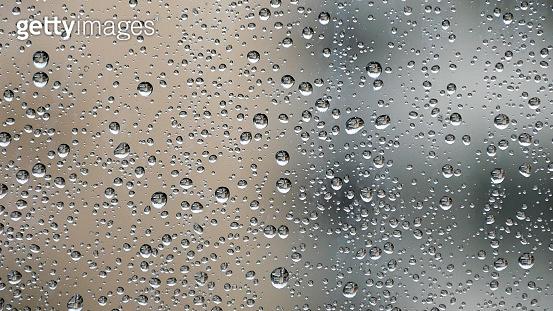 Raindrops on the window pane