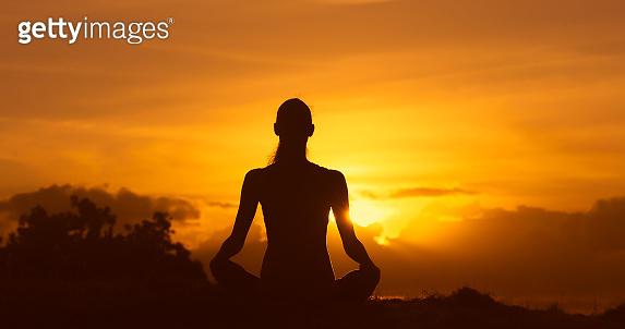 Peaceful morning meditation