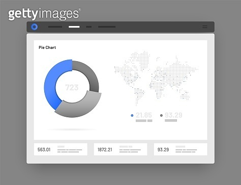 Web app Dashboard UI and UX Kit. Infographic tools.