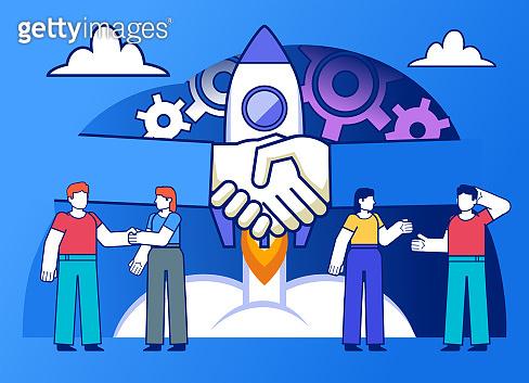 New business start, successful startup