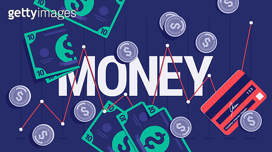 illustration background for finance, economy, banking and everything about money