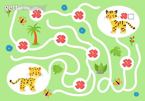 Educational maze game for preschool kids.