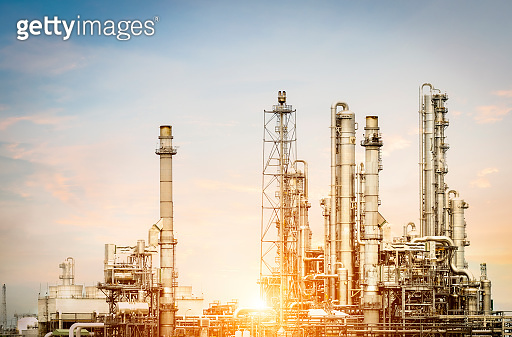 Petrochemical plant in the morning