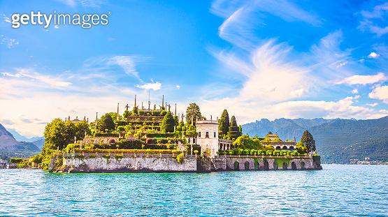 Isola Bella island in Maggiore lake, Borromean Islands, Stresa Piedmont Italy