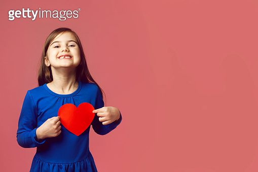 little girl with received valentines