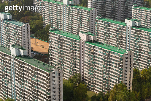 Apartment buildings in Seoul