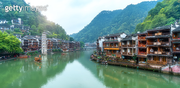 Scenery of Fenghuang ancient town, Hunan Province