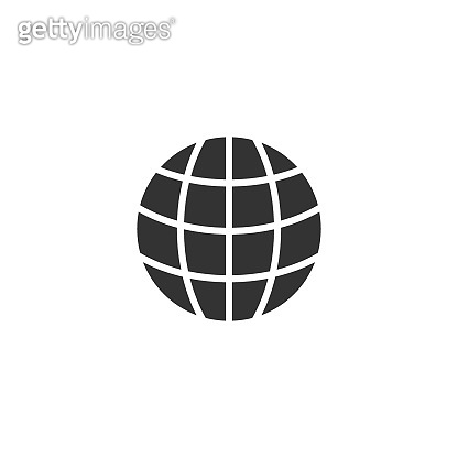 Earth planet icon in flat style. Globe geographic vector illustration on white isolated background. Global communication business concept.
