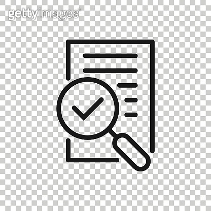 Financial statement icon in flat style. Result vector illustration on white isolated background. Report business concept.