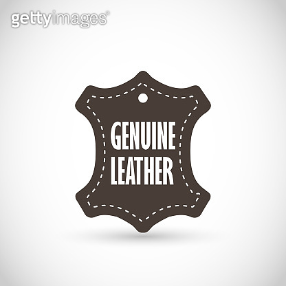 Genuine Leather vector sign icon
