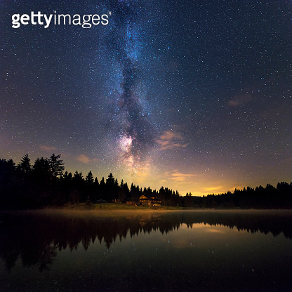 Milky Way Reflects Off Water, Low Tatras National Park Slovakia