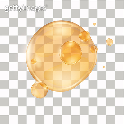 Realistic honey drop