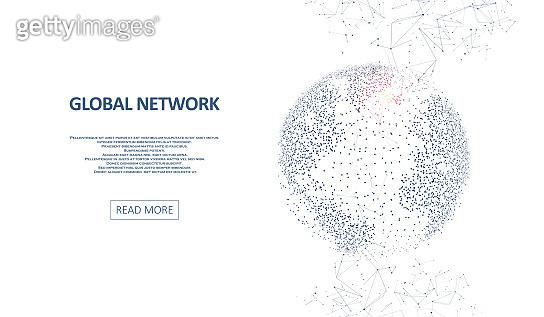 Technology image of globe