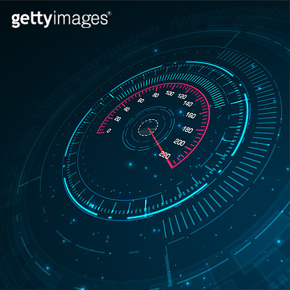 Speed motion background with speedometer car