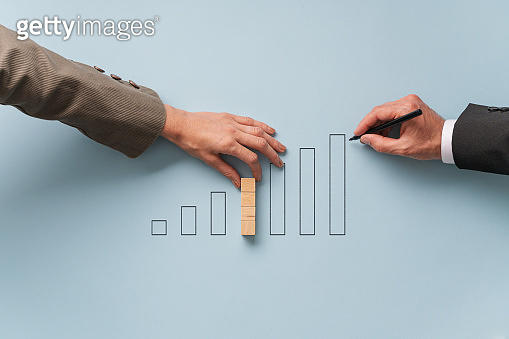 Conceptual image of economy and financial market
