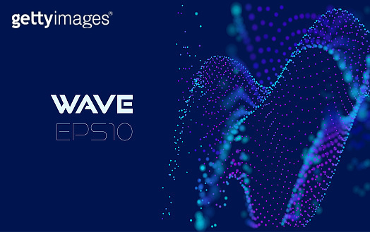 Abstract wave analytics for concept design. Abstract geometric pattern. Futuristic background. Modern geometric background. Digital technology background. Abstract digital data flow.