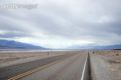 travelling in the death valley desert