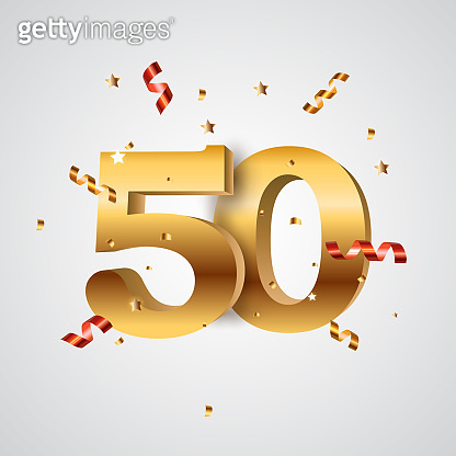 Template Logo 50 Years Anniversary Vector Illustration