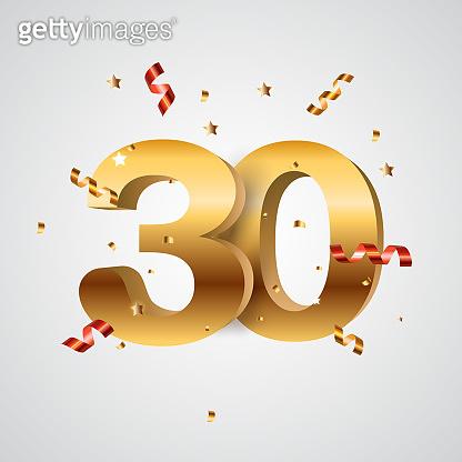 Template Logo 30 Years Anniversary Vector Illustration