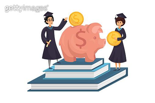Capital, money, education, loan concept