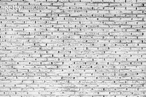 Abstract grey white color brick wall texture