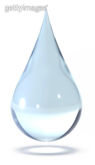 Water drop 3d rendering