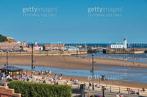Scarborough city in the sunny day, United Kingdom
