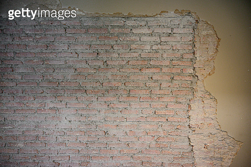 Close up brown  brick wall background.