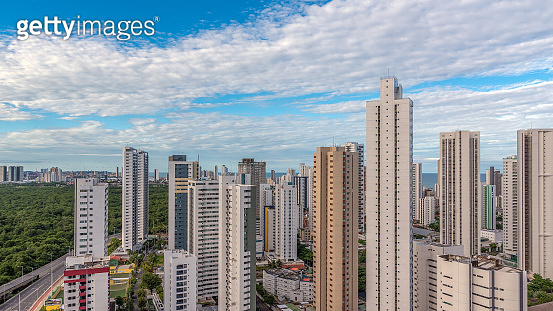 Architecture and nature from Boa Viagem neighborhood in Recife