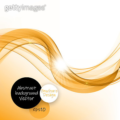 Abstract gold waves on white background. Transparent waved lines for brochure, website, flyer, card, template design - Vector illustration EPS10