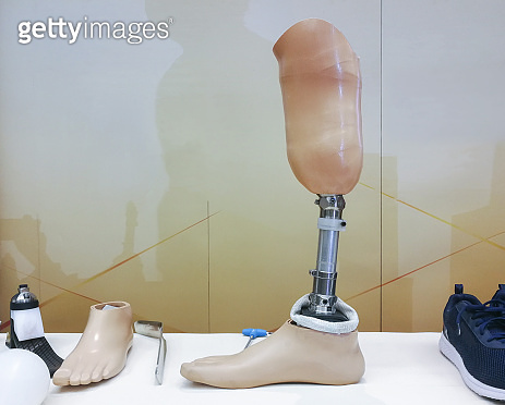 Knee Prosthesis Below of disabled human