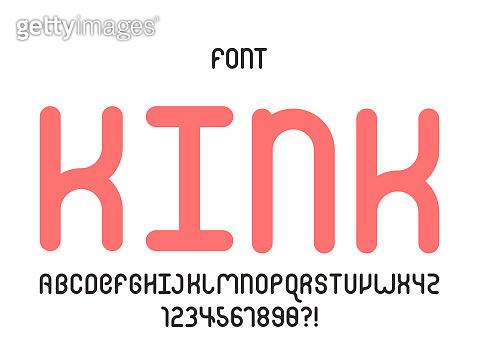 Kink font. Vector alphabet