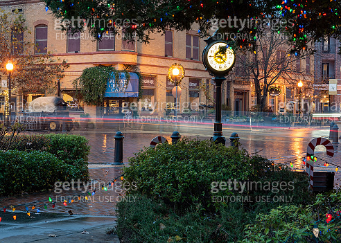 Christmas decorations in the city of Winters, California