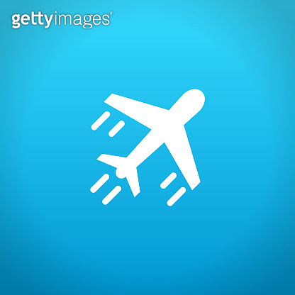 Flying Plane. Vector stock illustration.