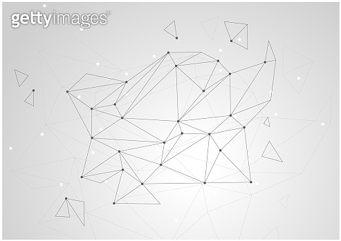 Abstract triangles space low poly, color background with connecting dots and lines. Light connection structure. Polygonal vector background.