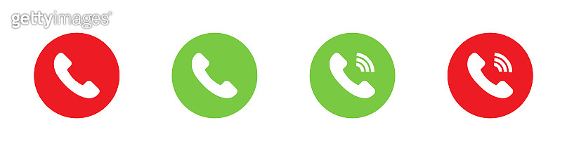 Phone call icons. Phone call buttons. Telephone vector icons, isolated. Vector illustration