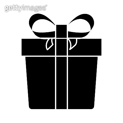Gift box icon for mobile apps or website.