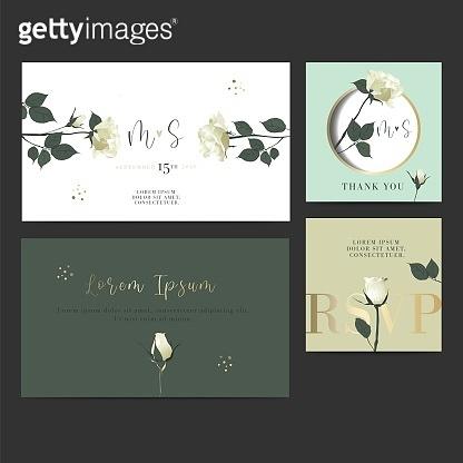 Wedding invitation Design Card.