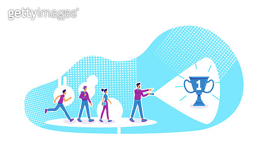 Leadership flat concept vector illustration